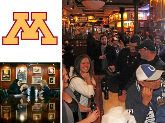 Minnesota fans are meeting up at Hard Rock Cafe, 49 S. Meridian St.