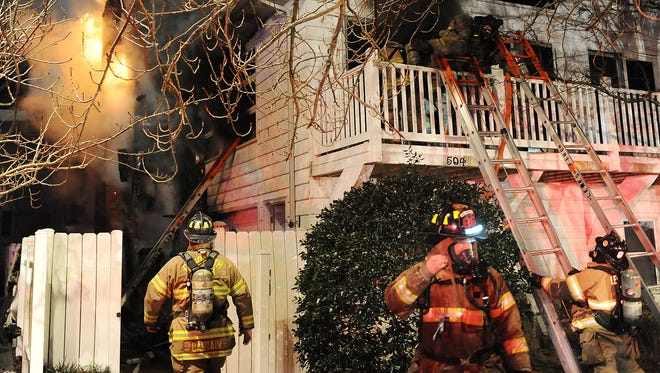 Rehoboth Beach fire department was assisted by Lewes, Bethany Beach, Indian River, Roxana and Millville fire units in responding to a structure fire at 504 Bayard Avenue on Monday, Jan 18 shortly before midnight in downtown Rehoboth Beach.