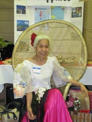 Evelyn Miller wears a traditional Philippine costume