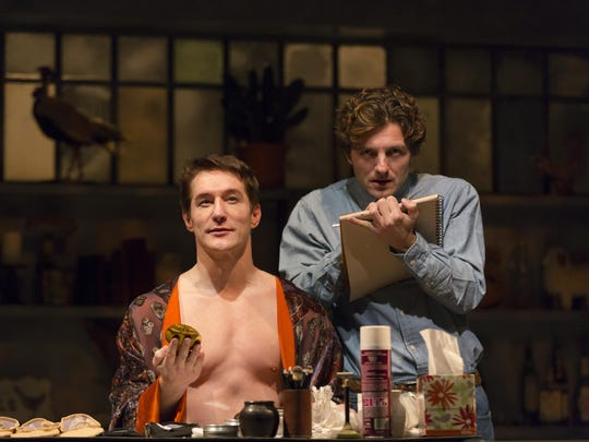 Bill Dawes plays ballet great Rudolph Nureyev and William Connell plays painter Jamie Wyeth in 'Nurevey's Eyes' at Delaware Theater Company.