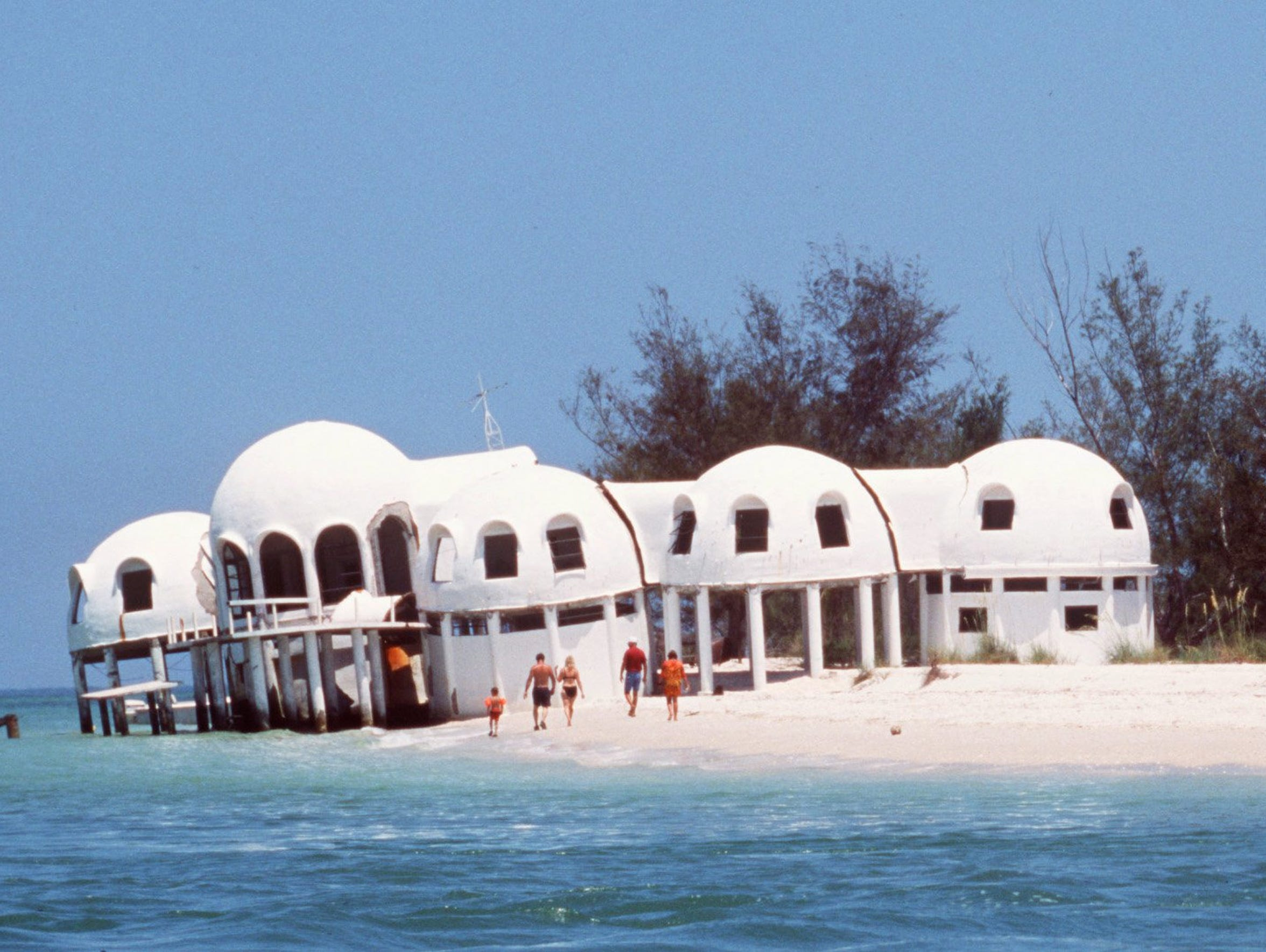 This file photo shows the Cape Romano domes when they