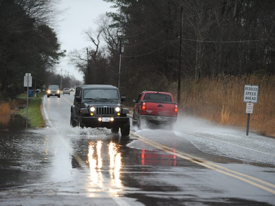 New Road is known to frequently flood, as shown in this file photo.