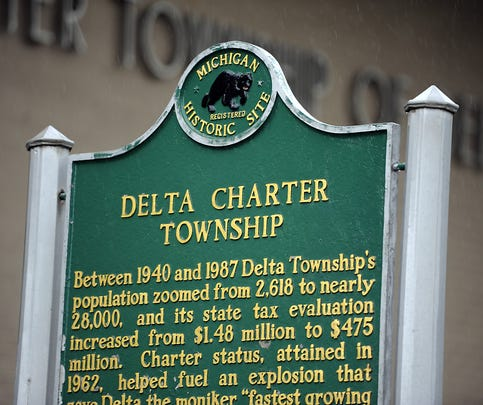 Delta Twp marker   10/17/2013r.    (Lansing State Journal | Rod Sanford)