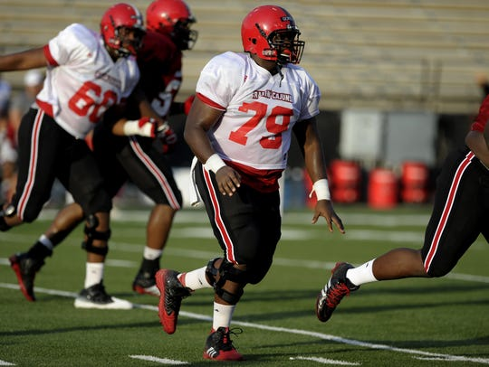 UL center Eddie Gordon is projected to be the starting