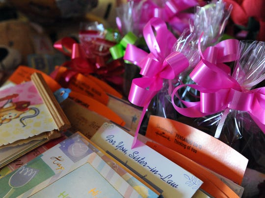 Gift cards for sale at Jania's Flowers and Amalia's Toys, 606 E. Alisal St. in Salinas.