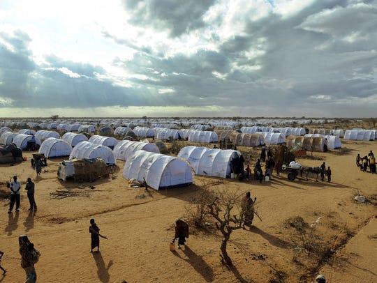 Somali refugees at the Dadaab refugee camp in Kenya,