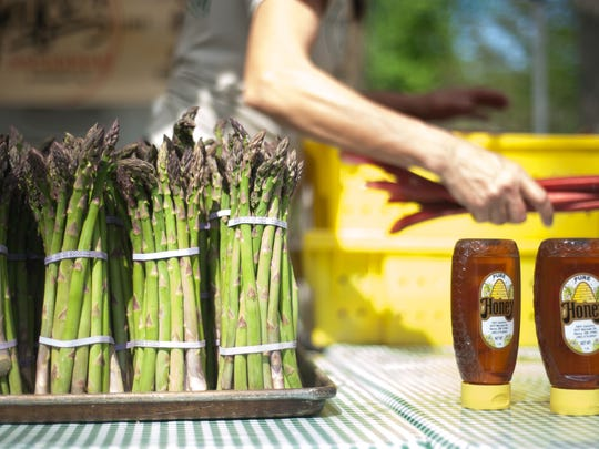 Asparagus and honey were sold at the Rehoboth Beach Farmers Market in previous years. In Delaware, farmers markets have been deemed nonessential during the coronavirus measures.
