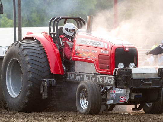 The Prison City Pull-Off tractor pulls took place Saturday