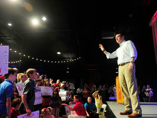 Republican presidential candidate and U.S. Sen. Ted Cruz speaks to a group of 1,600 at The Factory at Franklin on Aug. 10, 2015.