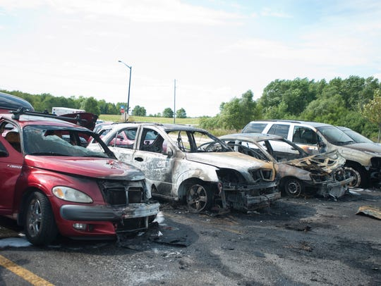 Manitowoc Fire Department responded to a multiple-car