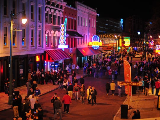 Walk down Beale Street in Memphis to celebrate Labor Day weekend.