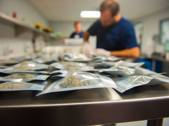 A strain of marijuana called Lavender is packaged for distribution at Compassionate Sciences in Bellmawr. Thursday, October 1, 2015.