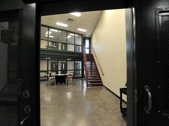 An Argus Leader Media investigation found that state resources haven't kept up with a  rise in demand for competency evaluations. Block C at the Minnehaha County Jail in Sioux Falls is shown above.