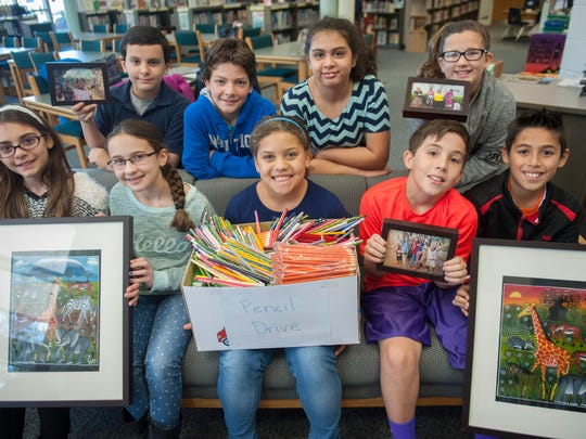 Rice Elementary School fifth-graders and student council