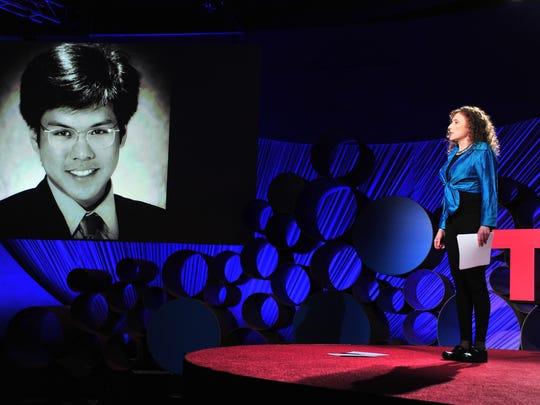 Physician Pamela Wible speaks at TEDMED 2015.