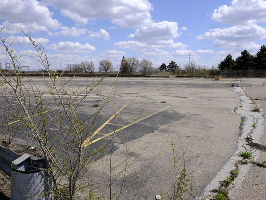 The former GM sites in Lansing Township along Saginaw Highway before Project RestART.