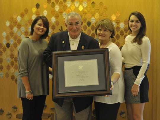 Marty Libowsky received his lifetime achievement award
