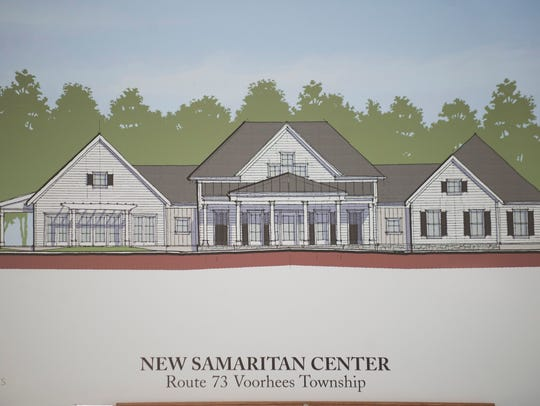 A rendering of the Samaritan Center at Voorhees, South