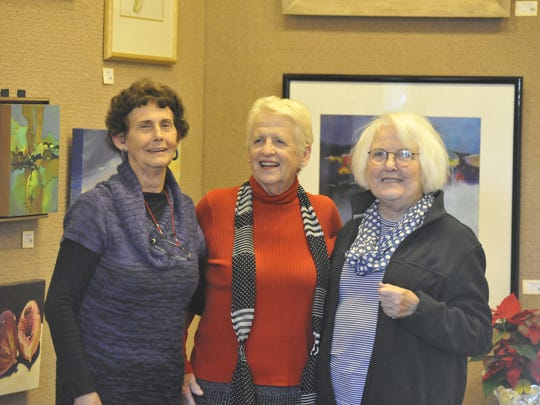From left to right, Quayside artists Dot Hudson, Diance