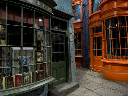 General views of the Harry Potter studio tour, Diagon