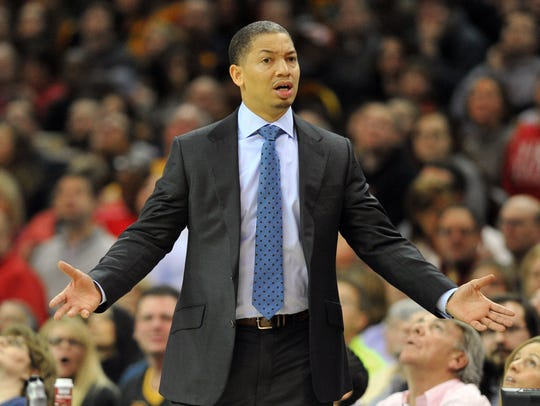 Jan 27, 2016: Cleveland Cavaliers head coach Tyronn
