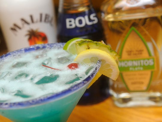 The Coconut Blue margarita from El Rodeo