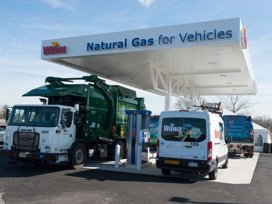 Wawa in Paulsboro is the first store chain-wide to offer a Compressed Natural Gas (CNG) fueling station as an alternative to the traditional liquid fuels for customers. Thursday, March 3, 2016.