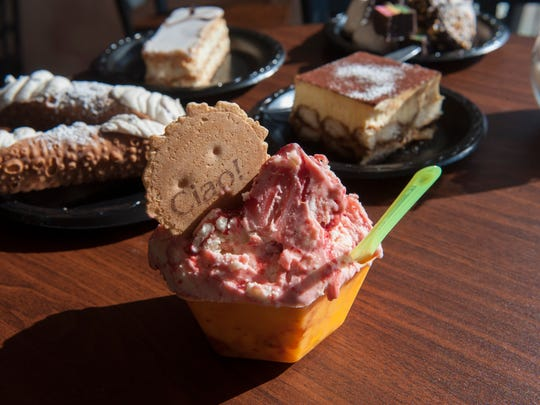 Gelato and other fine baked goods and pastries at Gelato