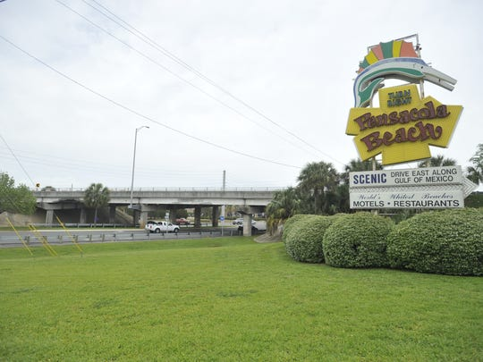 The Pensacola Beach Road overpass of U.S. 98 was damaged by a large truck. Gulf Breeze City Council wants the Florida Department of Transportation to look at building a new overpass.