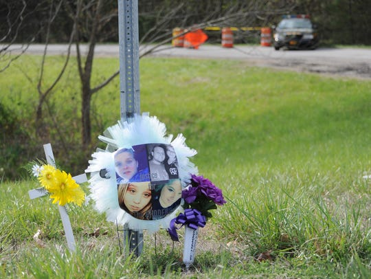 A memorial, at the corner of Ohio 32 and Union Hill