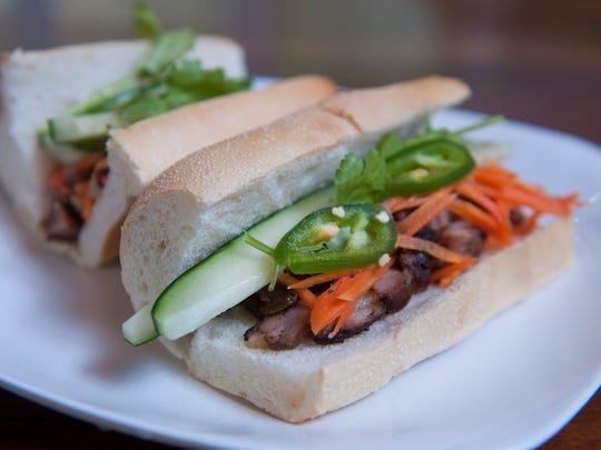 Grilled chicken banh mi is a hearty choice at Pho-ladelphia.