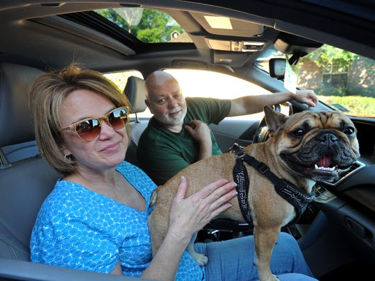L.J. and Sherri Laviolette and Grace the traveling