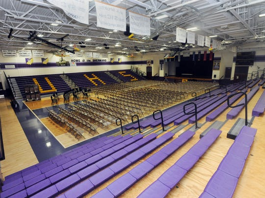 One of the things being looked into by the school district is getting a larger gymnasium. The current gym only holds about 1,100 people for events.