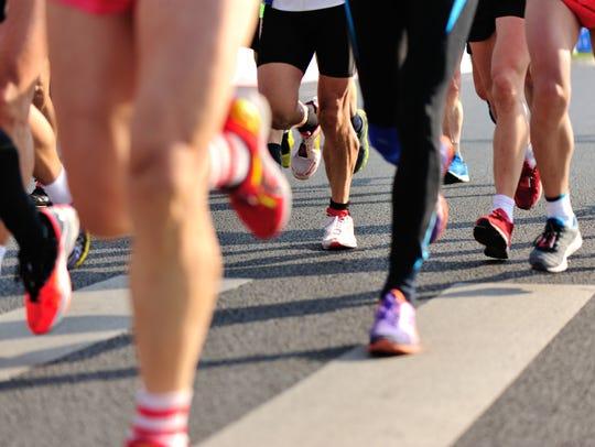 marathon runner legs