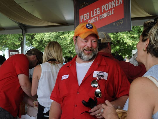 Chef Carey Bringle of Peg Leg Porker attends the Music City Food + Wine Festival.