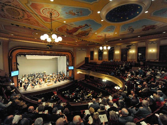 The Delaware Symphony Orchestra plays at The Grand Opera House.