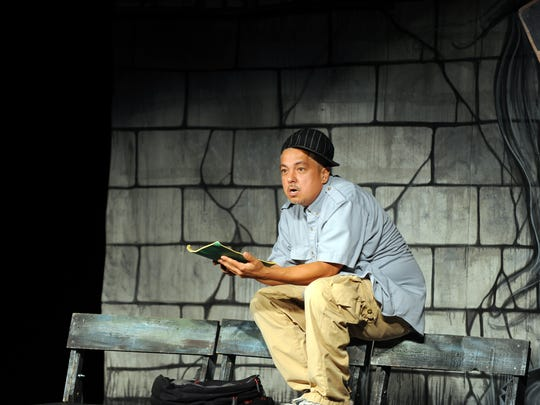 """Daniel, one of the ten characters played by Rubén C. González during his one-man show """"La Esquinita"""" at the Alisal Center for the Fine Arts."""