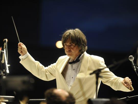 Maestro Marius Smolij and the Acadiana Symphony Orchestra