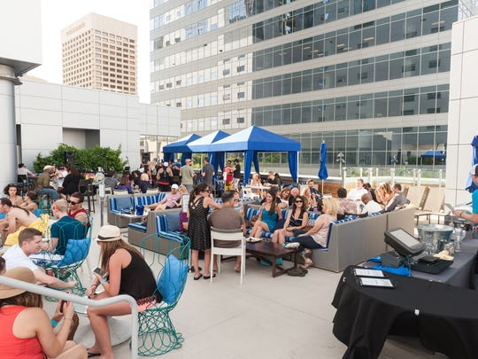 Lustre Rooftop Bar features great drinks and even better views of downtown Phoenix.