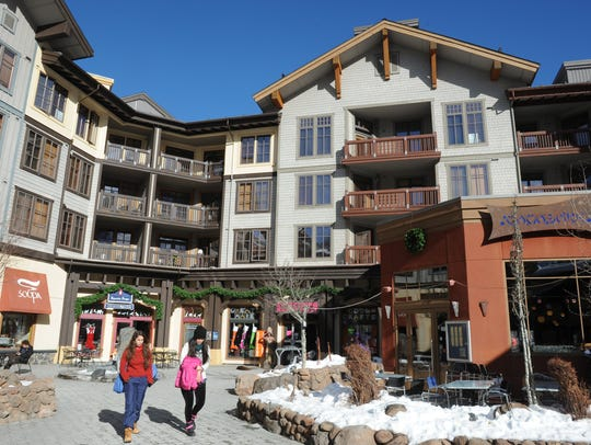Shops, condos in the Village at Squaw Valley taken