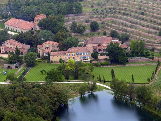 Chateau Miraval, a vineyard estate in Provence, France,