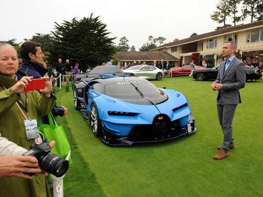 Concept cars, including this Bugatti Vision Gran Turismo, on Sunday at the 2016 Pebble Beach Concours d'Elegance.