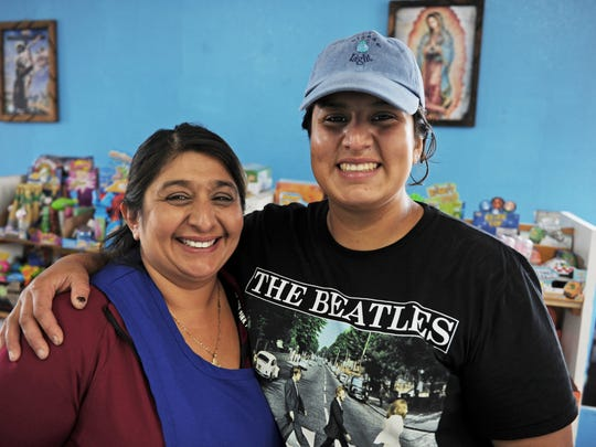 From left, Mirella and Crystal Farfan in their water store, Aqualight, located at 454 E. Alisal St. in east Salinas.
