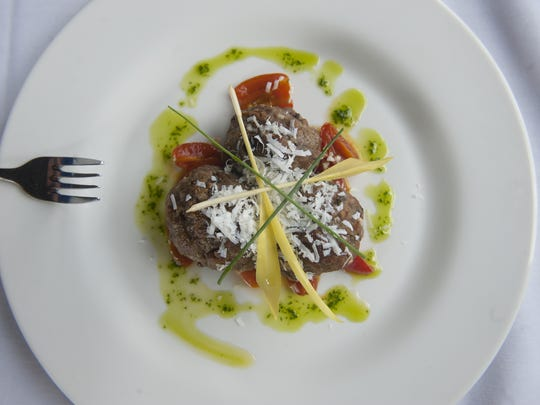 A pan-fried Polpette dish is a sight to be seen at Chubby's  Steakhouse in Gloucester City.
