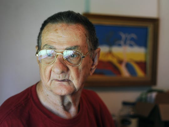 In this 2014 file photo, Eddie Sandifer of Jackson is pictured in the home office where he still worked for gay rights and human rights at the age of 84.