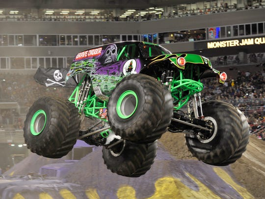 Grave Digger is among the monster truck stars that will kick up some dirt at the Resch Center this weekend for Monster Jam.