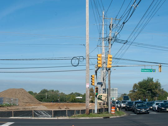 The intersection at Route 73 and Fellowship Road in Mount Laurel where a new Walmart is being built. Major road construction could be coming in 2021.