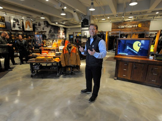 The Industrial Sewing and Innovation Center will move into the third floor above workwear retailer Carhartt Inc.'s flagship Midtown store to train workers in apparel manufacturing, says Tony Ambroza, senior vice president of marketing for Carhartt.