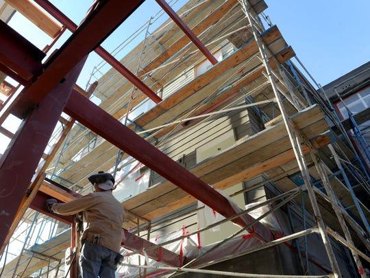 Paul Keffer of B&R Fabrication of Ventura welds steps