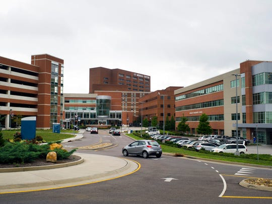 The University of Tennessee Medical Center is pictured Aug. 5, 2016.